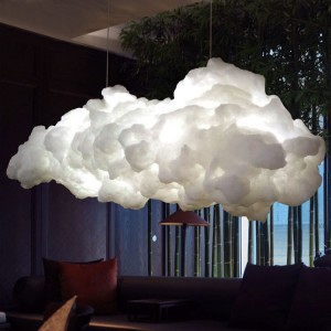 Nordic Intelligent Customized Cloud Lamp Creative Art white cloud Lighting Children's Hotel Club Lighting Engineering Restaurant Cotton Chandelier