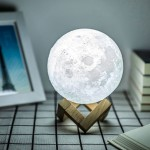 3D printing Amazon hot style creative LED remote control bedside moon lamp