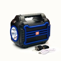 New multifunctional car outdoor portable solar lamp, Bluetooth speaker, flashlight, radio and power bank