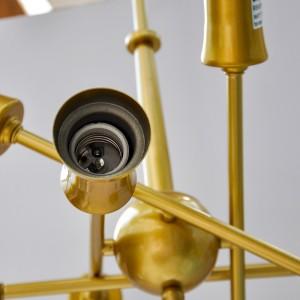 WarmHeart 8 Light Modern Chandelier Gold Plating Pendant Light Ceiling Light