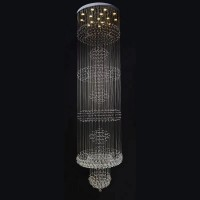 Project customized large crystal attic chandelier villa stair chandelier