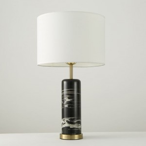 American modern simple fashion marble table lamp m...