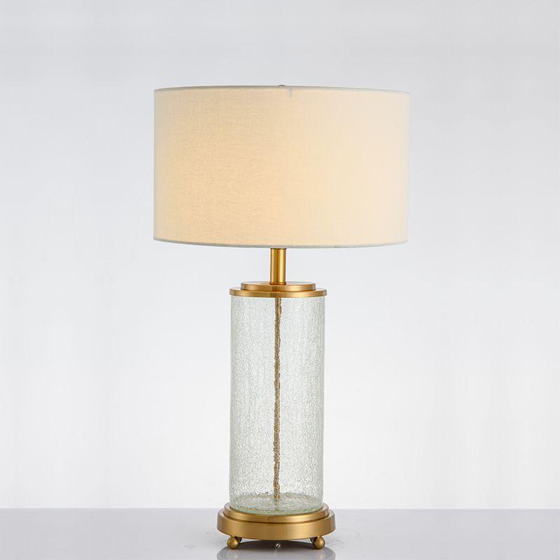 American Simple Light Luxury Crack Glass Table Lamp Postmodern Fashion  Model Room Living Room Bedroom Metal Cracked Glass Decorative Table Lamp