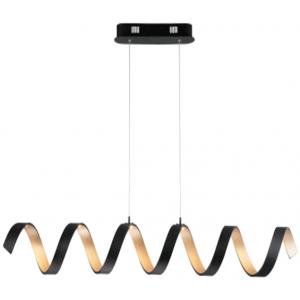 Nordic post-modern chandelier simple dining room pendant light bar wave personality creative coffee shop bedroom aluminum chandelier